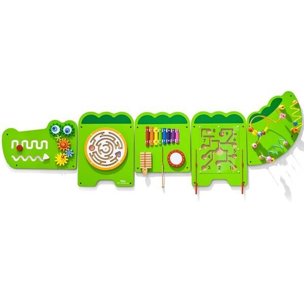 Viga Toys - Crocodile mural multi-fonctions