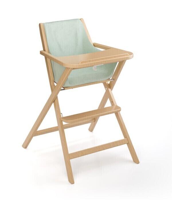 Geuther - Chaise haute pliante Traveller naturel