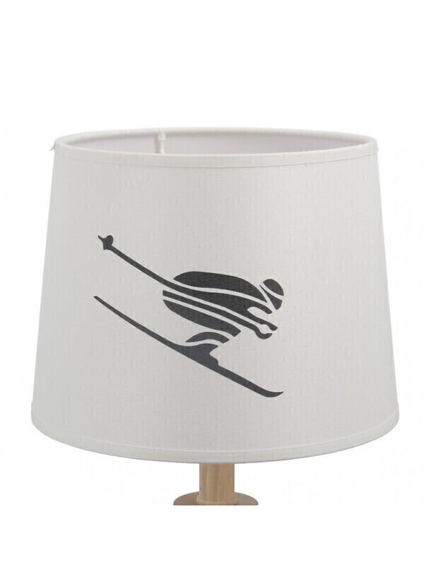 Créations Léonie's France - Abat-jour cylindrique de skieur en impression blanche diamètre 2