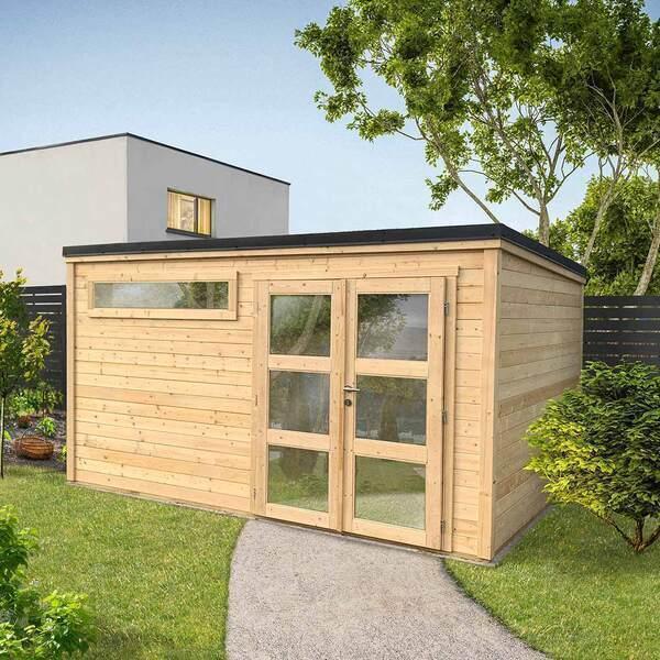 FOREST STYLE - Abri de jardin bois SHELTY PLUS MODERN 11m², toiture en acier g