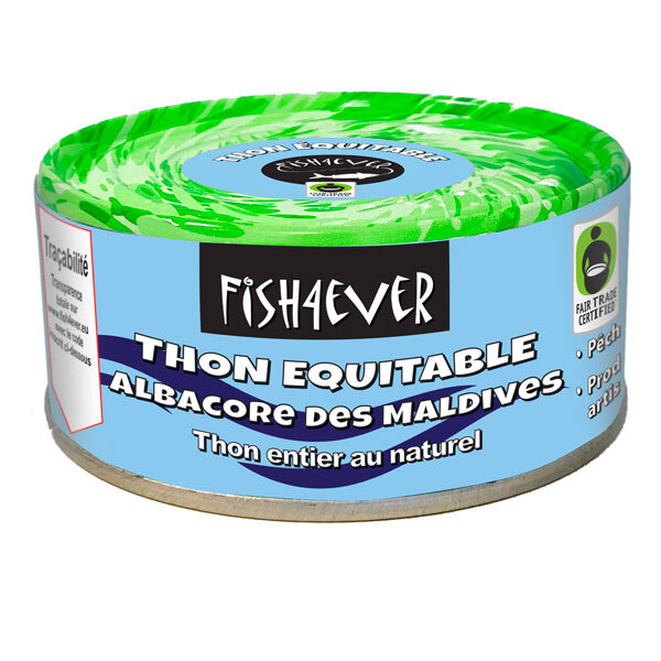 Fish4Ever - Thon albacore au naturel équitable 160g