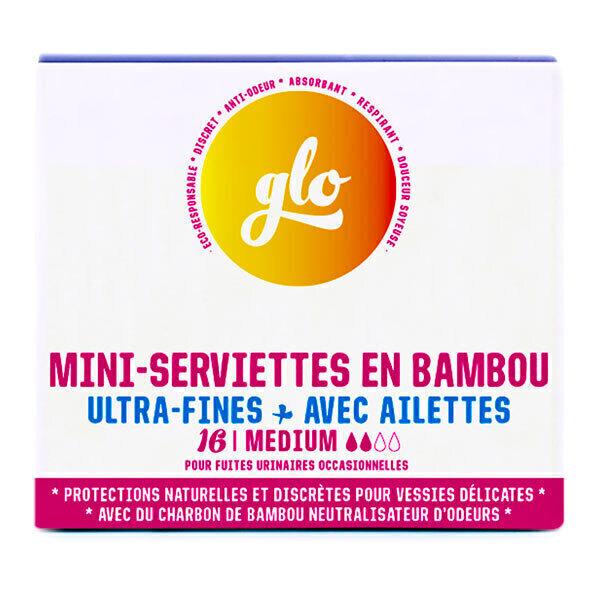 Flo - Serviettes mini anti-fuites bambou bio x16