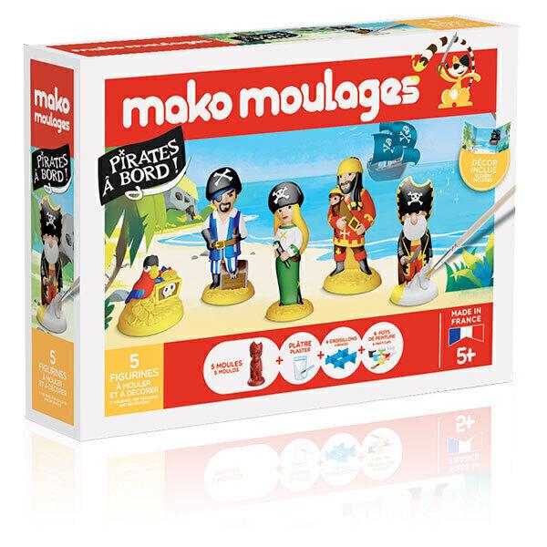 Mako moulages - Coffret 5 moules - Pirates à bord - Dès 5 ans