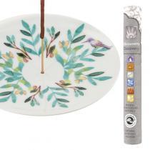 Les Encens du Monde - Coupelle porte-encens en porcelaine Aquarelle + encens