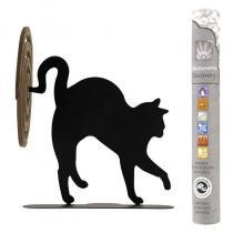 Les Encens du Monde - Porte-spirales d'encens chat noir + 14 bâtonnets d'encens