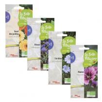 La Belle Potagère - Fleurs comestibles - 4 sachets de graines à semer