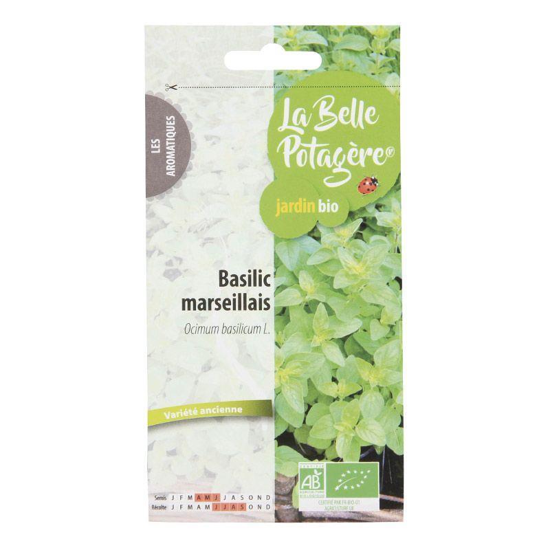 La Belle Potagère - Graines à semer - Basilic marseillais - 0,5 g