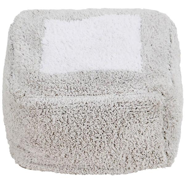 Lorena Canals - Pouf MARSHMALLOW SQUARE Pearl Grey