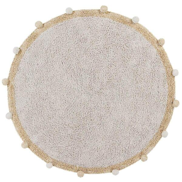 Lorena Canals - Tapis 120cm BUBBLY Natural-Honey