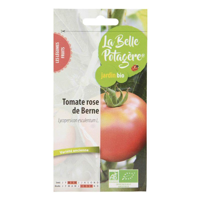 La Belle Potagère - Graines à semer - Tomate Rose de Berne - 0,15 g