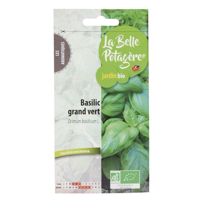 La Belle Potagère - Graines à semer - Basilic grand vert - 0,5 g