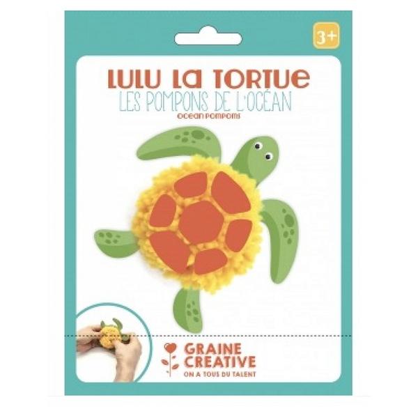 Graine Créative - Kit Pompon pour les petits tortue