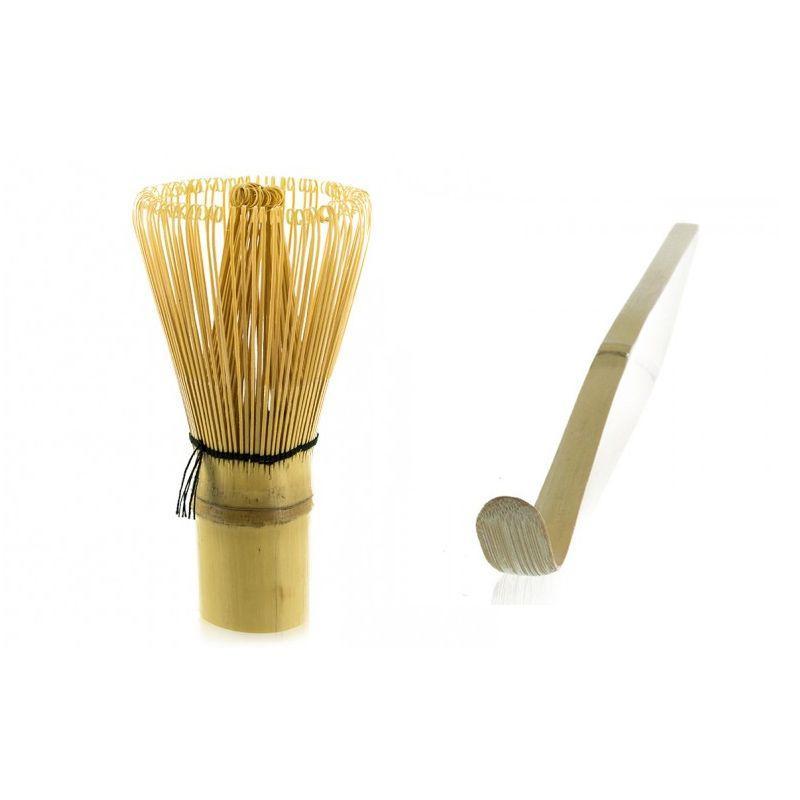 Aromandise - 2 ustensiles à thé matcha en bambou