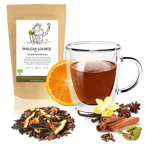 Phileas Lounge - Thé Noir Pain d'épices Bio -100g