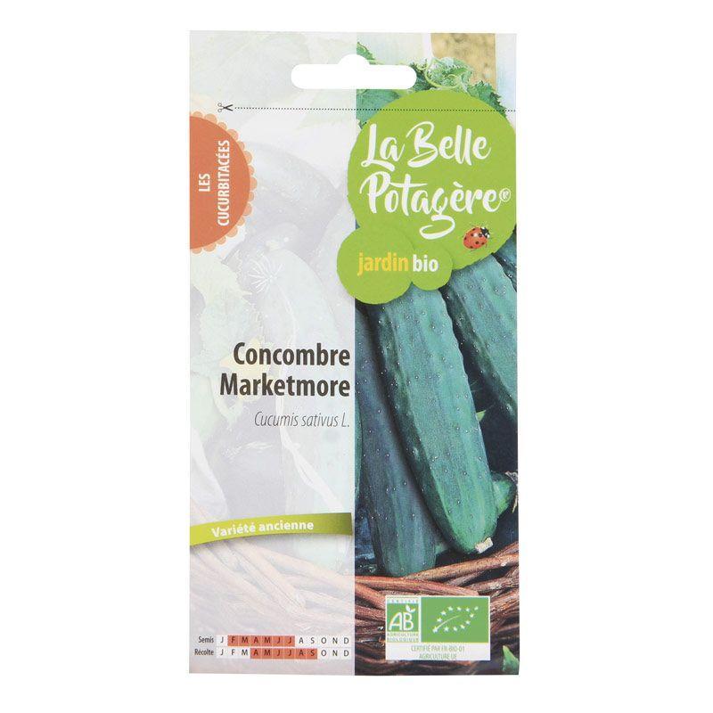 La Belle Potagère - Graines à semer - Concombre Marketmore - 0,5 g