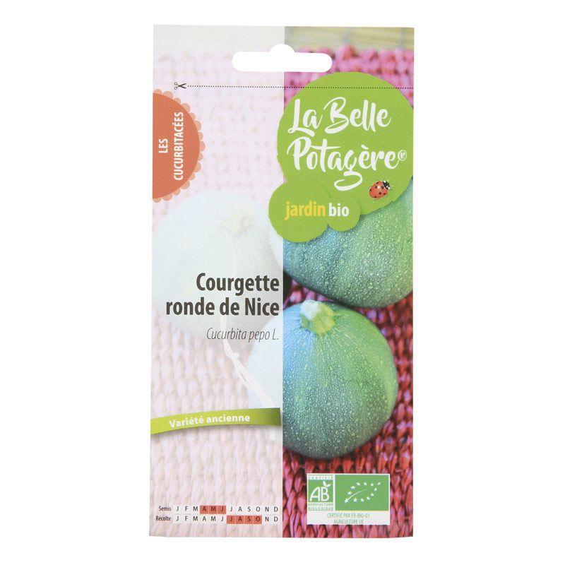 La Belle Potagère - Graines à semer - Courgette ronde de Nice - 1,5 g