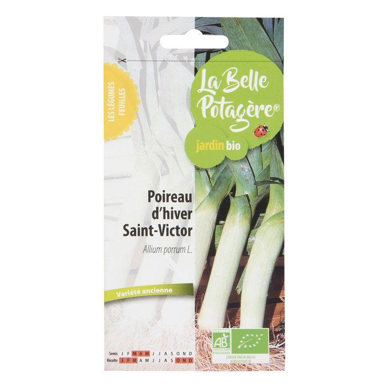 La Belle Potagère - Graines à semer - Poireau d'hiver Saint Victor - 1,5 g