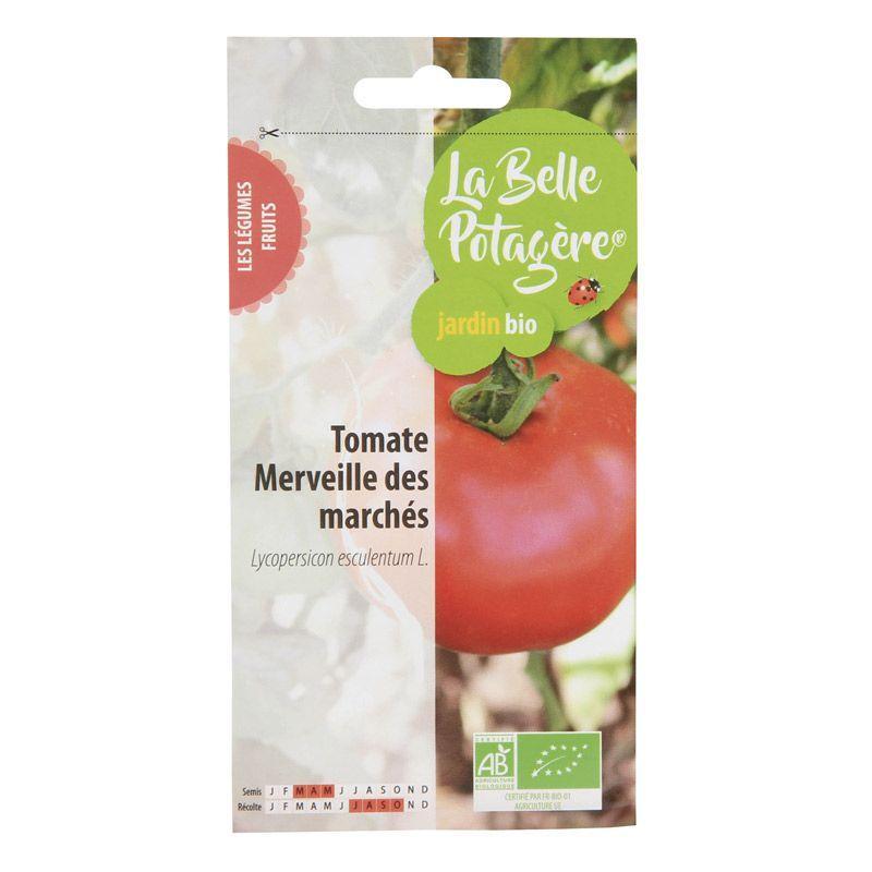 La Belle Potagère - Graines à semer - Tomate Merveille des marchés - 0,15 g