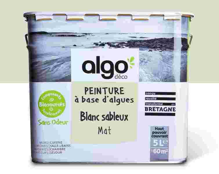 Algo Peinture - Blanche Algo à base d'algues 100% naturelles (Blanc sableux)