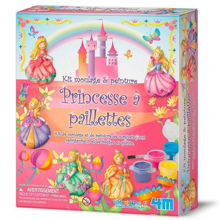 4M - Coffret de moulage et peinture - Princesses à paillettes