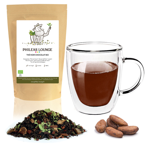 Phileas Lounge - Thé Noir Chocolat Bio-100g