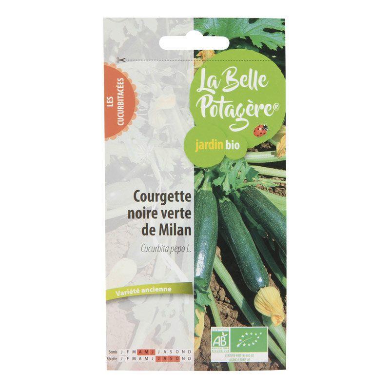 La Belle Potagère - Graines à semer - Courgette noire verte de Milan - 1,6 g