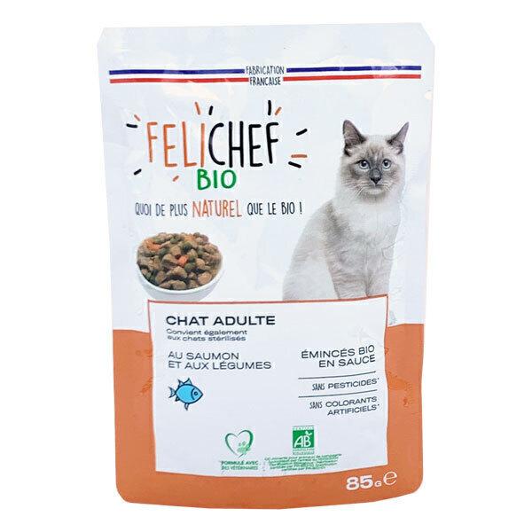 Felichef - Emincés pour chat au saumon 85g