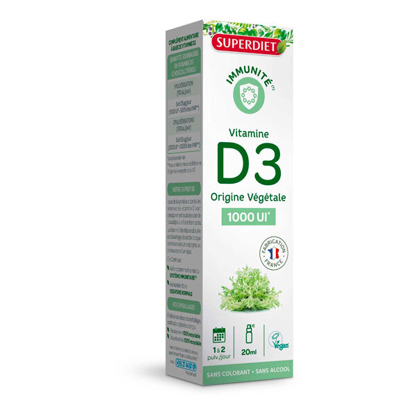 SUPERDIET - Spray vitamine D3 1000 UI 20ml