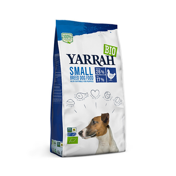 Yarrah - Croquettes pour chiens et chiots petite race Poulet 2kg