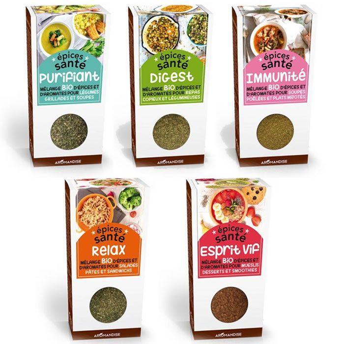 Aromandise - 5 mélanges d'épices santé