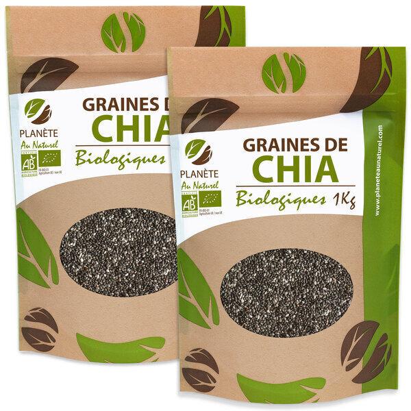 Planète au Naturel - Graines de Chia Bio - 2 kg