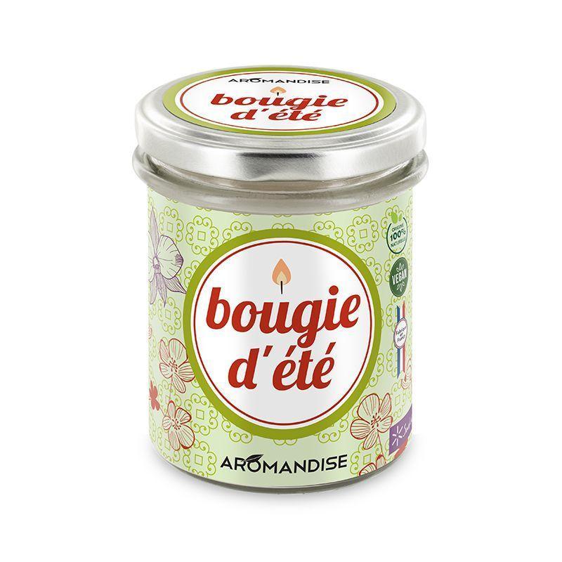 Aromandise - Bougie d'été - citronnelle & géranium - 30h