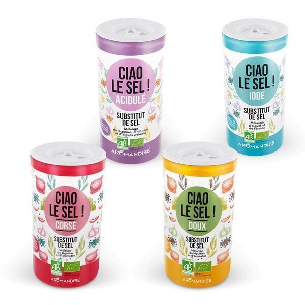 Aromandise - 4 substituts de sel - Doux, corsé, acidulé, iodé