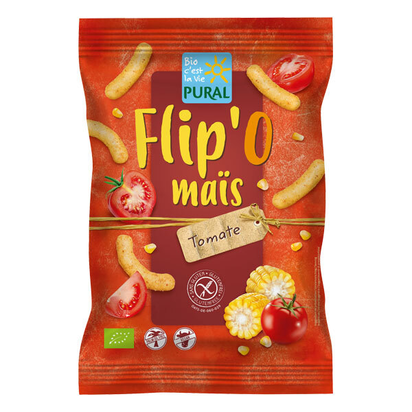 Pural - Biscuits apéritifs Flip'o maïs tomate 100g