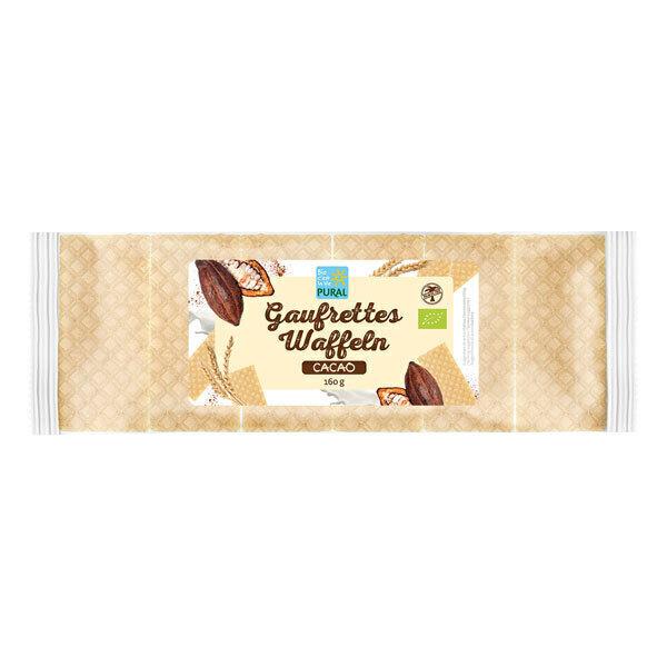 Pural - Gaufrettes saveur chocolat 160g