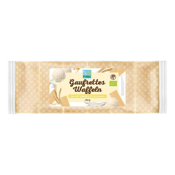 Pural - Gaufrettes saveur vanille 160g