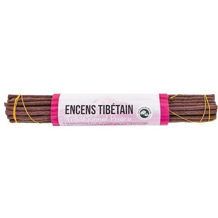 Les Encens du Monde - 32 bâtonnets d'encens traditionnel tibétain - Prière