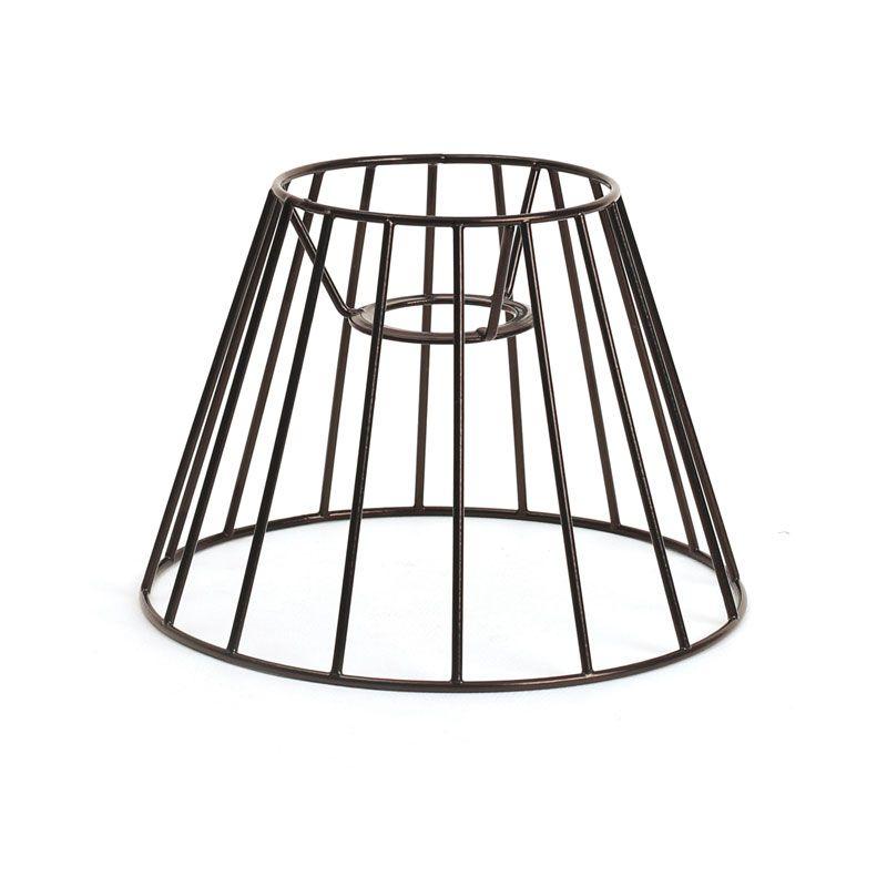 Graine Créative - Abat-jour cône noir 15 x 12 cm