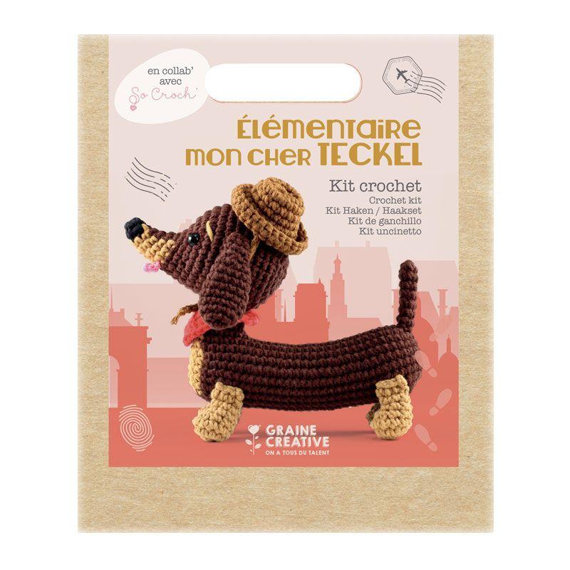 Graine Créative - Ma peluche en crochet Amigurumi - Teckel