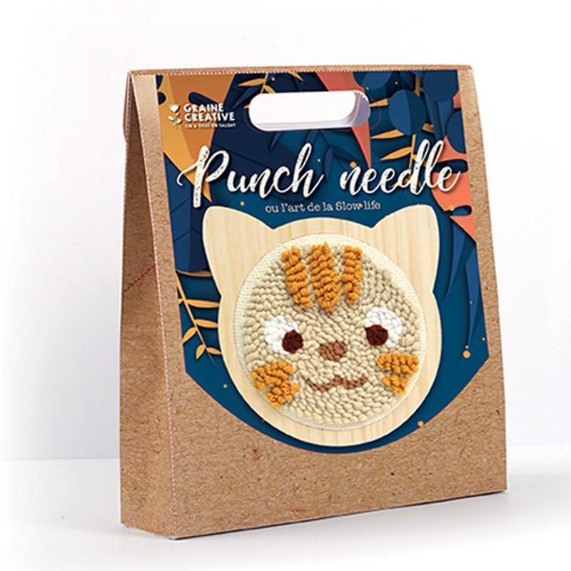 Graine Créative - Coffret punch needle - Chat Ø 15 cm