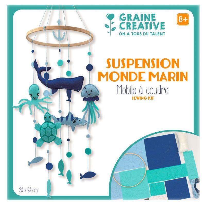 Graine Créative - Je fabrique mon mobile bébé - Monde marin coffret DIY