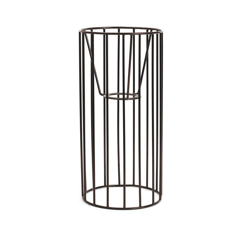 Graine Créative - Abat-jour cylindre noir 25 x 12 cm