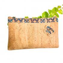 """OAK Forest - Pochette - Trousse en liège artisanal """"Azules Green"""""""