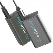 Pale Blue - PILES RECHARGEABLES USB 9V / 6LR61