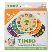 Timio - Pack de 5 disques Set 1 Animaux sauvages - Dès 2 ans