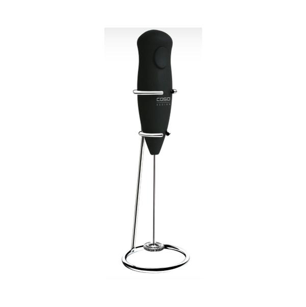 Anatae - Mousseur à lait électrique noir avec support