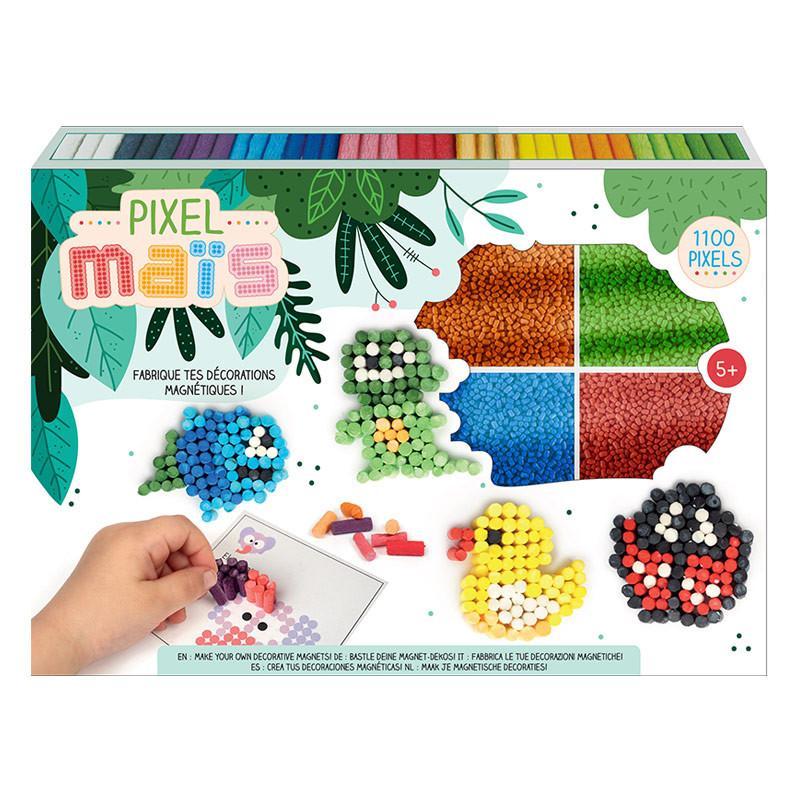 Graine Créative - Coffret Pixel Maïs - Décorations de magnets