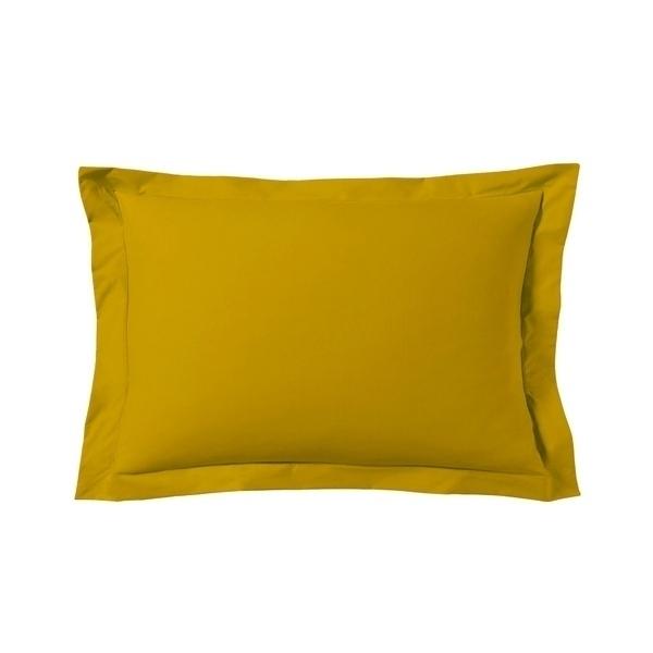 Zôdio - Taie d'oreiller rectangle jaune curry 50x70cm