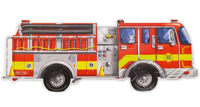 Melissa & Doug - Puzzle géant camion de pompiers
