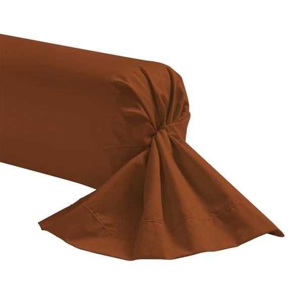 Zôdio - Taie de traversin rouge terracotta 44x185cm